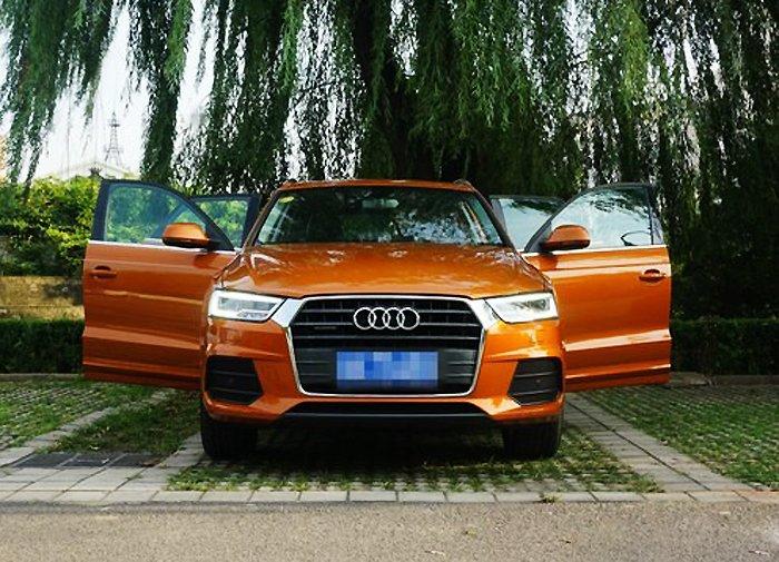 橙色奥迪Q3提车作业 求认证