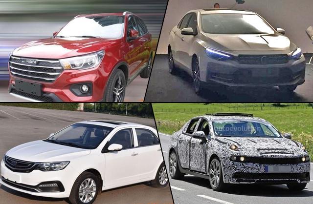 自主品牌4款新车谍照速递 量产在即