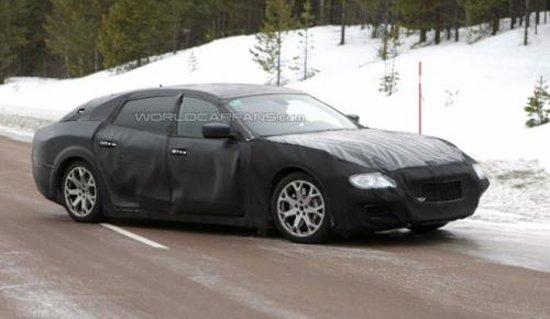 玛莎拉蒂换代总裁原型车首曝 采用掀背造型