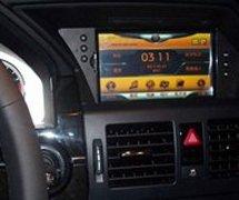 奔驰GLK300小屏换大屏GPS导航作业效果