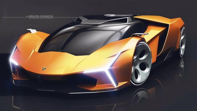 兰博基尼Concepto X渲染图  形似星战飞船