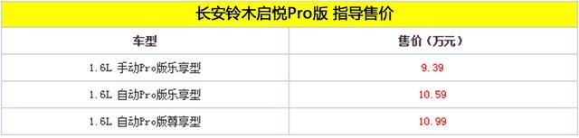 长安铃木启悦Pro版上市 售价9.39-10.99万