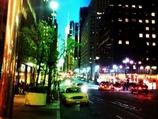 纽约街头灯火辉煌