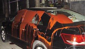 五、车身沾到油漆