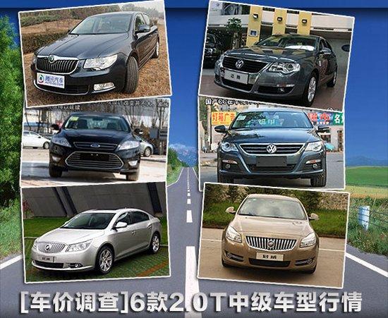 [车价调查]动力油耗兼得 6款2.0T车型行情