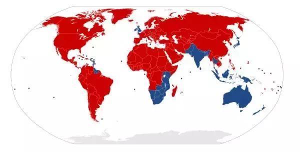 为啥中国美国的车靠右开 英国日本的靠左开?