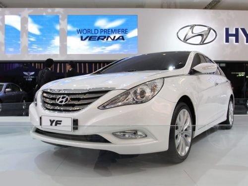 新索纳塔YF广州车展发布 将明年4月上市