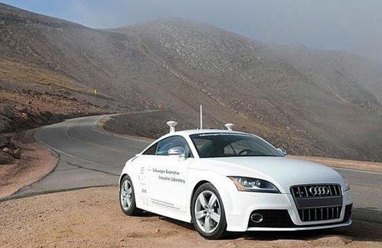 奥迪的自动驾驶系统将会在新一代a8上首次装备.这套系统高清图片