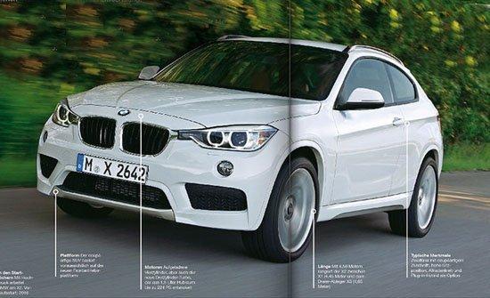 [海外车讯]宝马X2最新效果图 或2014年推出