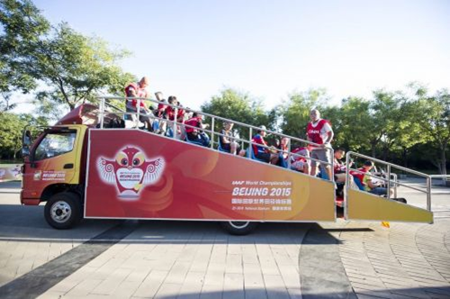 世界舞台见证福田欧马可护航2015北京世锦赛