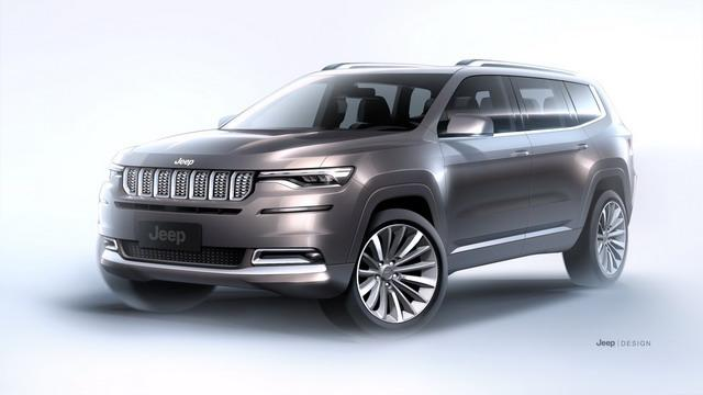 商务化高端SUV Jeep大指挥官官图发布