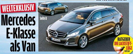 七座设计 奔驰基于E级的MPV车型效果图曝光