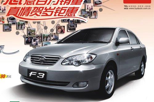 比亚迪F3广州车展掀盛惠 70万市场保有量