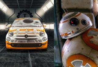 当菲亚特500碰上星战BB-8 萌系指数爆棚