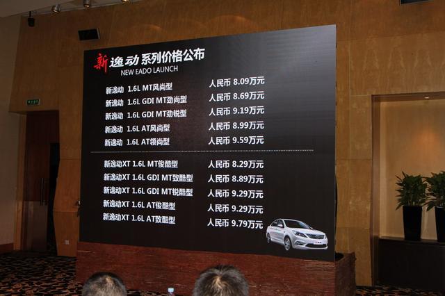 长安新款逸动/逸动XT上市 起售价8.09万元