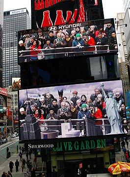 纽约时代广场个性化的广告牌