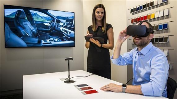 奥迪首创在经销店使用VR模拟器让消费者体验汽车