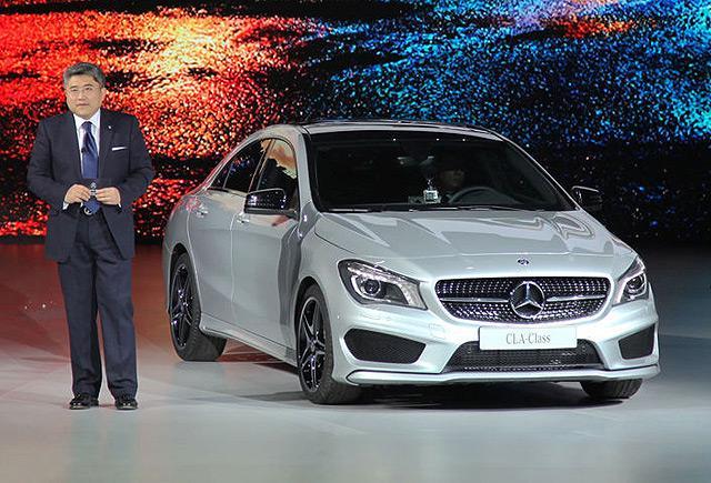 奔驰CLA四门轿跑售37.8万起 北京车展亮相