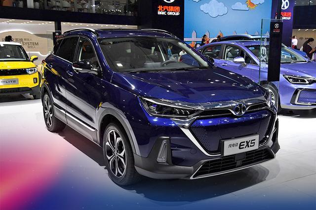 北汽新能源EX5正式亮相 定位紧凑型SUV