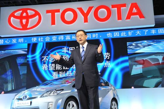 丰田章男亲临上海车展 重申中国市场地位