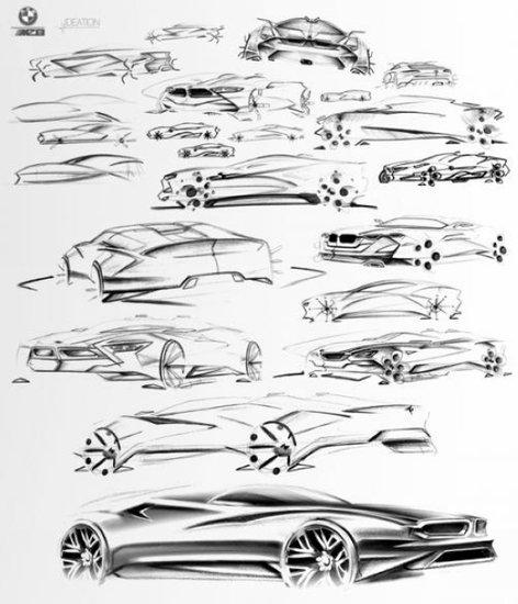 宝马mz8设计草图图片