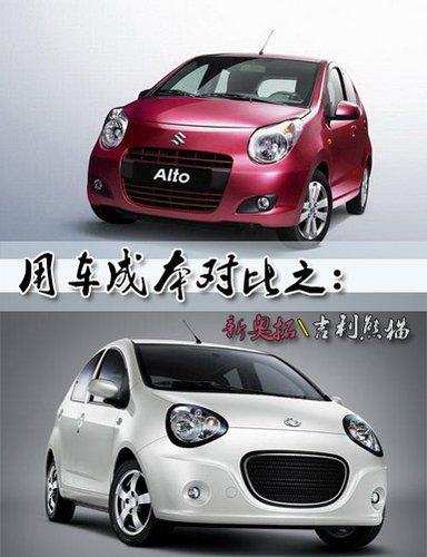 节能补贴车型 新奥拓、熊猫用车成本对比