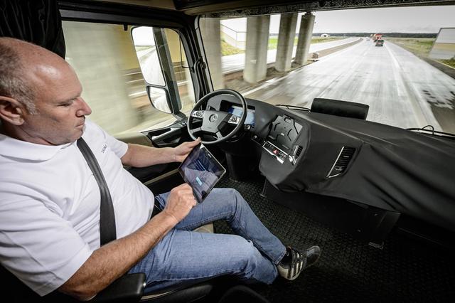 奔驰发布未来卡车新技术 实现自主驾驶