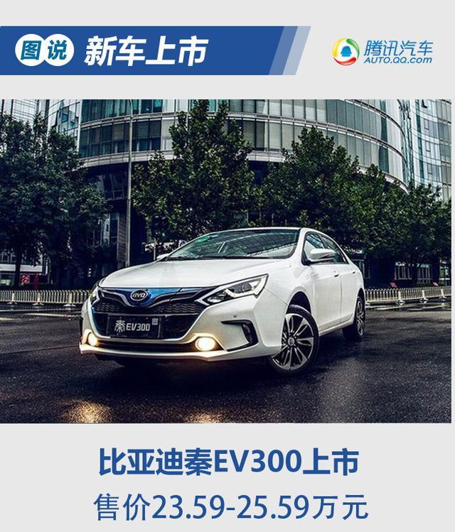 2017款秦EV300上市 补贴后售16.99万起