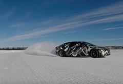 """""""特斯拉挑战者""""Lucid Motors展示雪地漂移"""