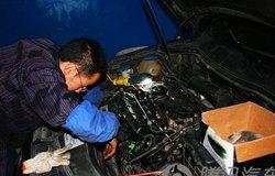 空调风道清洁以及发动机清理积炭作业