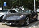 法拉利个性车牌黑色猛兽599GTB