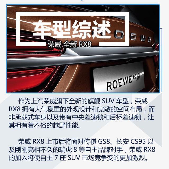定位硬派中大型SUV 荣威RX8正式亮相