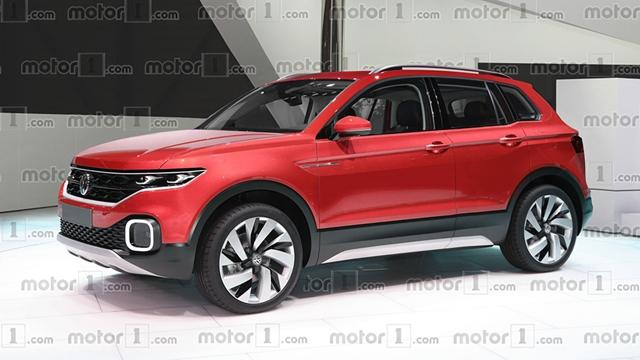 大众全新小型SUV效果图 预示未来设计方向