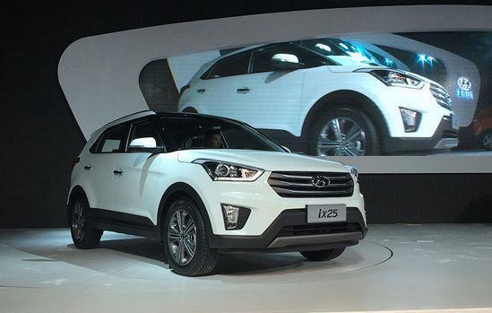 北京现代ix25成都车展亮相 10月10日上市
