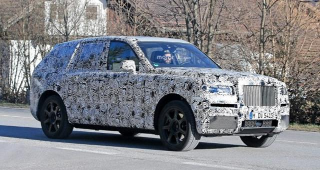 劳斯莱斯首款SUV最新谍照 延续一贯威严感