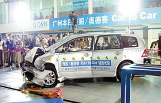 碰撞测试.这是最能考验汽车安全性的测试,这些法规中公认最高清图片