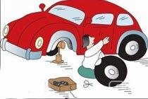 轮胎表面过度磨损或受油类腐蚀而导致爆胎