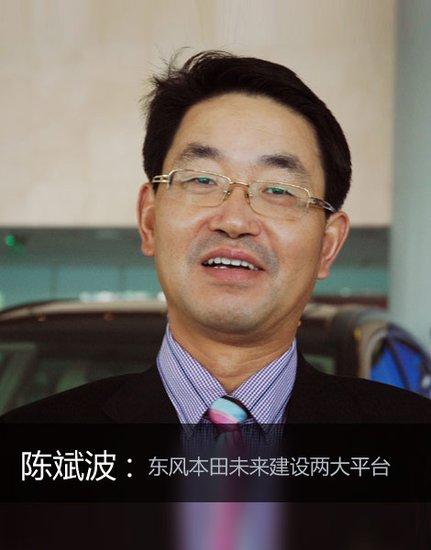 陈斌波:东风本田将形成两大战略平台