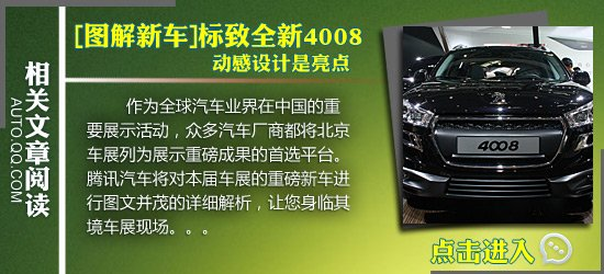 [车展导购]标致4008是重点 W1馆车型盘点