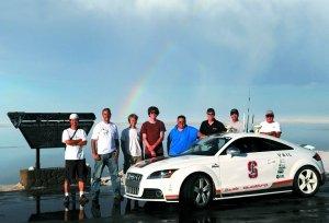 奥迪无人驾驶TTS狂飙赛道 最高时速75km/h