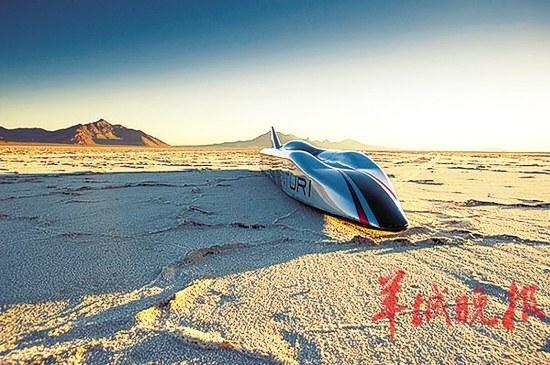 最快电动车欲破纪录 目标时速达708公里