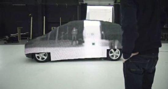 奔馳利用光學偽裝技術打造隱形汽車(圖)