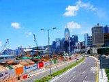 白云点缀建设中的香港