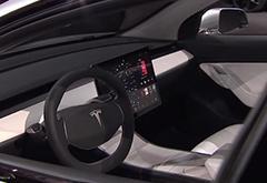 特斯拉Model 3内饰设计谍照曝光