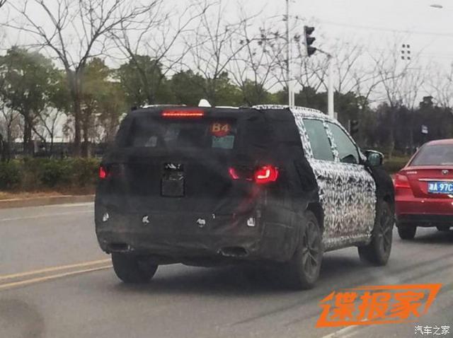 霸气大空间 Jeep全新7座SUV测试谍照曝光