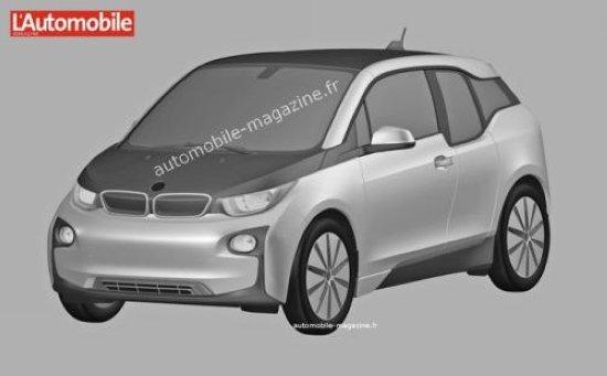 [海外车讯]宝马i3量产版专利图 或售33万起