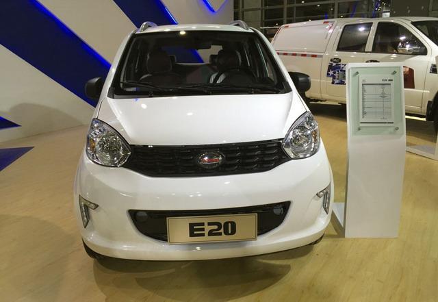 卡威E20纯电动车正式亮相 续航里程180km