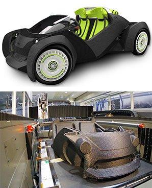 汽车界的黑科技 3d打印敞篷车Strati