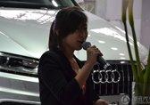 腾讯汽车6S展台漂亮的女主持