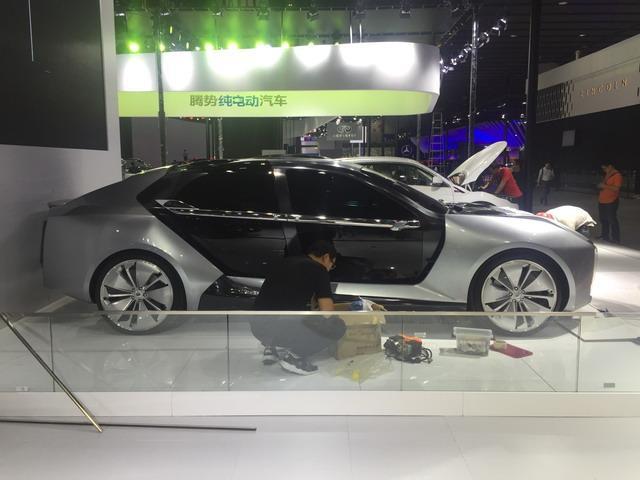 观致Model K-EV观点车展台亮相  2.6秒破百